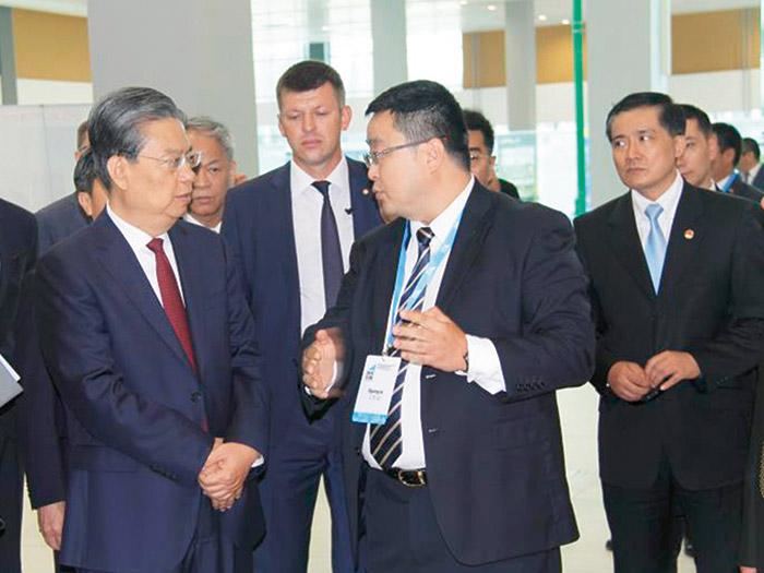 2018年中央政治局常委,中央纪律检查委员会书记赵乐际访问中白工业园