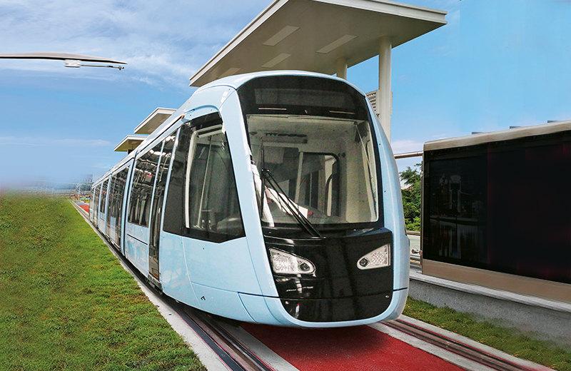 阿尔斯通100%低地板现代有轨电车在蓉2号线