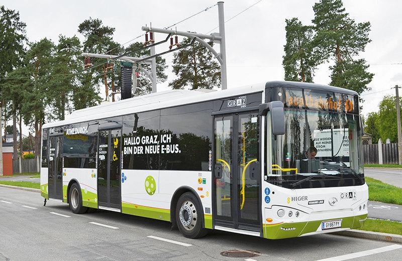 奥地利格拉茨超级电容公交车