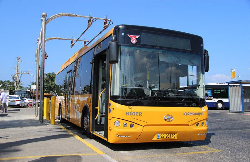 以色列特拉维夫超级电容公交车